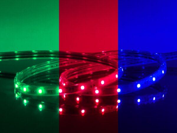 LSTR002 220V 7,2W IP65 / Набор лента светодиодная 220V 7,2W 30Led 5050 IP65 мульти, 10 м