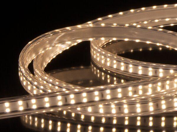 LS011 220V / Набор лента светодиодная Premium 220V 18W 180Led 2835 IP65 4200K белая, 10 м, двухрядная