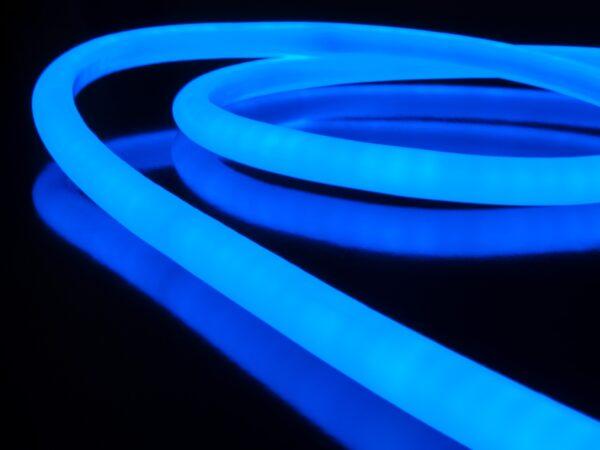 LS003 220V / Набор гибкий неон 9.6W 144Led 2835 IP67 16mm круглый синий, 10 м