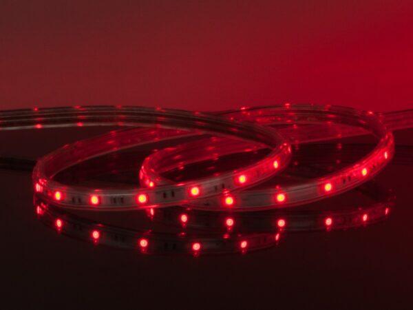 LSTR001 220V 4,4W IP65 / Набор лента светодиодная  220V 4,4W 60Led 3528 IP65 красный, 10 м