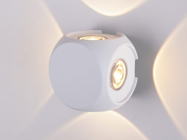 1504 TECHNO LED / Светильник садово-парковый со светодиодами CUBE белый