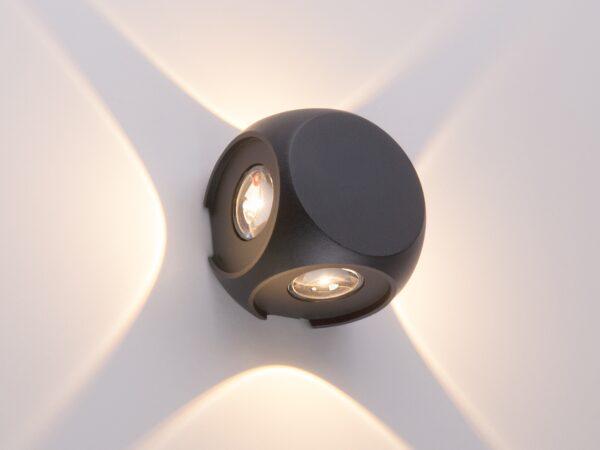 1504 TECHNO LED / Светильник садово-парковый со светодиодами CUBE черный