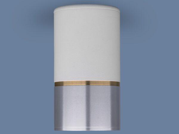 DLN106 GU10 / Светильник накладной белый/серебро