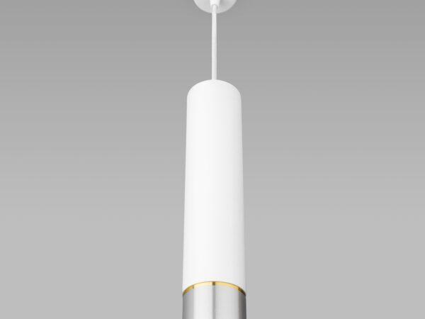 DLN107 GU10 / Светильник накладной белый/серебро