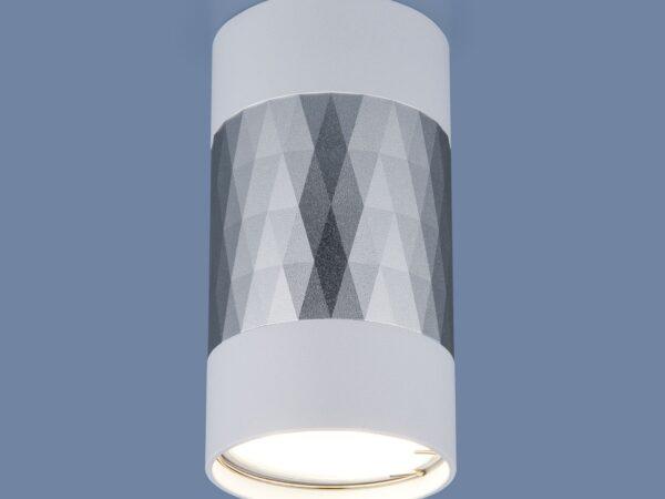 DLN110 GU10 / Светильник накладной белый/серебро