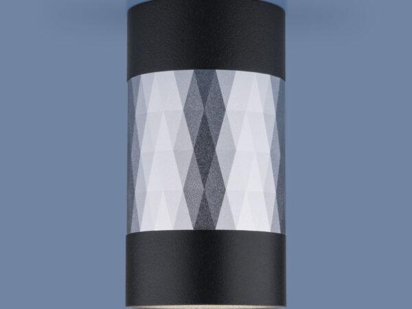 DLN110 GU10 / Светильник накладной черный/серебро