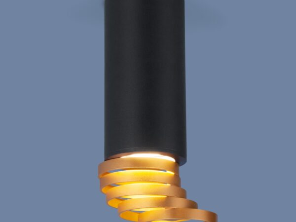 DLN102 GU10 / Светильник накладной черный/золото