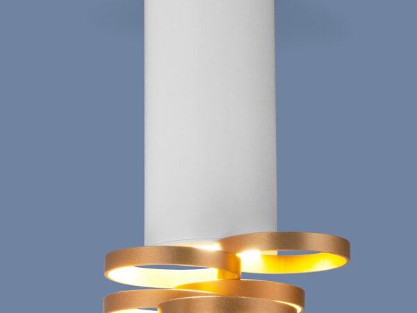 DLN102 GU10 / Светильник накладной белый золото