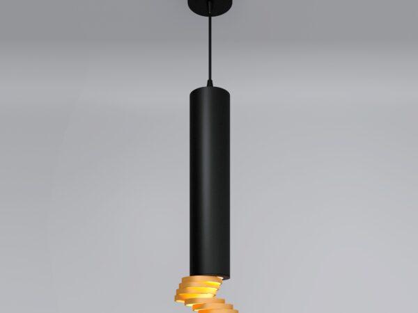 DLN103 GU10 / Светильник накладной черный/золото