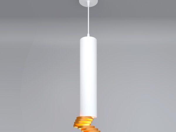 DLN103 GU10 / Светильник накладной белый/золото