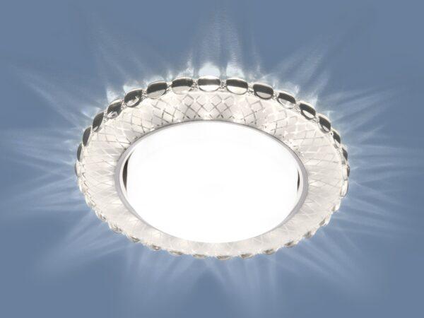 3034 GX53 / Светильник встраиваемый SL/WH зеркальный/белый