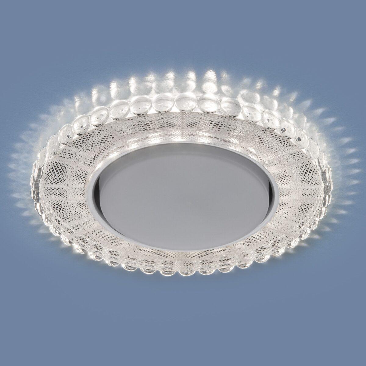 3035 GX53 / Светильник встраиваемый SL/WH зеркальный/белый
