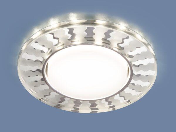3038 GX53 / Светильник встраиваемый SL/WH зеркальный/белый