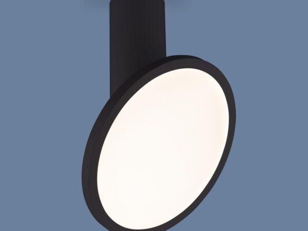 DLS029 / Светильник накладной черный матовый