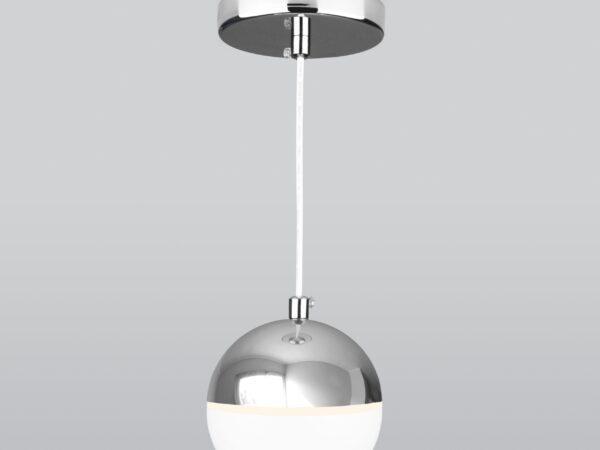 DLS023 / Светильник накладной белый/хром
