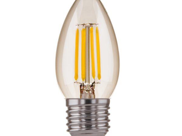 BLE2706/ светодиодная лампа Свеча F 9W 4200K E27 (C35 прозрачный)