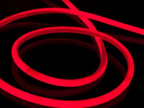 LS002 220V / Набор гибкий неон LS002 220V 9.6W 120Led 2835 IP67 круглый красный, 10 м