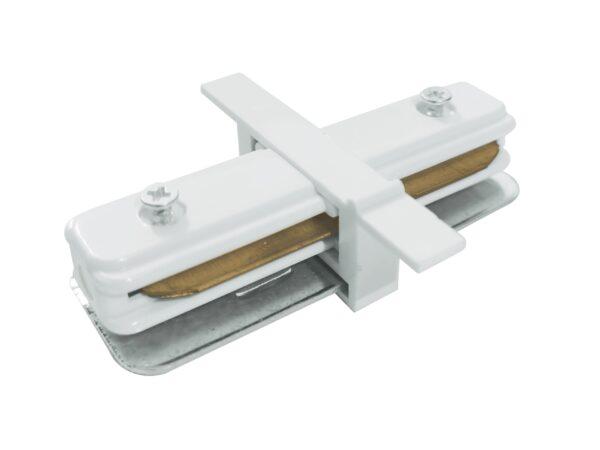 TRCM-1-I-WH / Соединитель электрический Коннектор прямой для однофазного встраиваемого шинопровода (белый)
