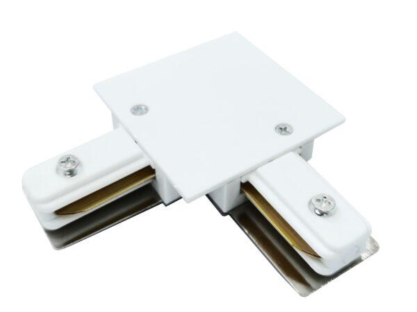 TRCM-1-1-L-WH / Коннектор угловой для однофазного встраиваемого шинопровода (белый)