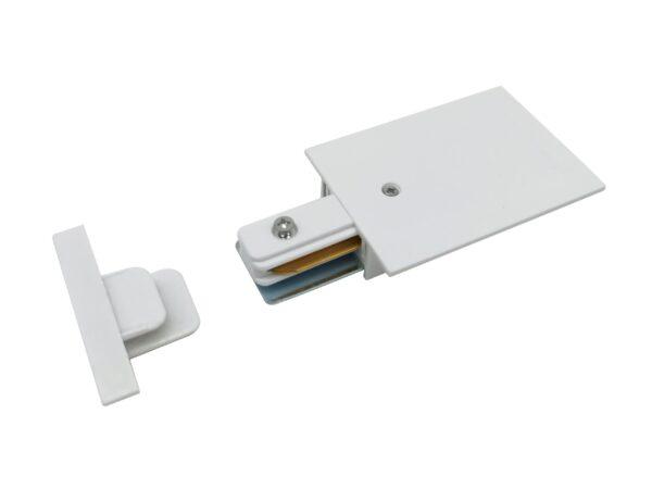 TRPF-1-WH / Соединитель электрический Ввод питания и заглушка торцевая для однофазного встраиваемого шинопровода  (белый)