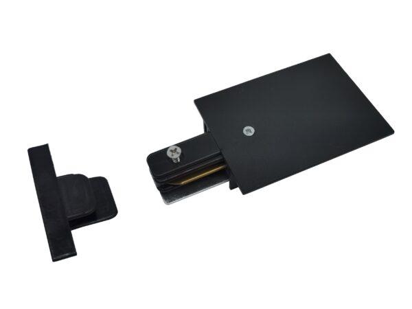 TRPF-1-BK / Соединитель электрический Ввод питания и заглушка торцевая для однофазного встраиваемого шинопровода  (черный)