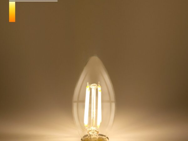 BLE1426/ Светодиодная лампа Свеча 9W 4200K E14 (CW35 прозрачный)