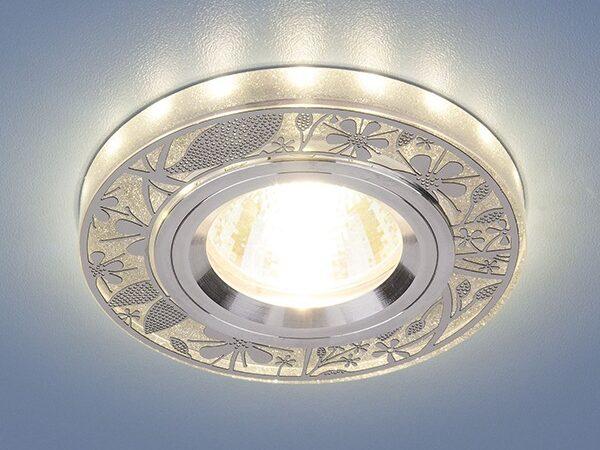 8096 MR16 SL / Светильник встраиваемый серебро