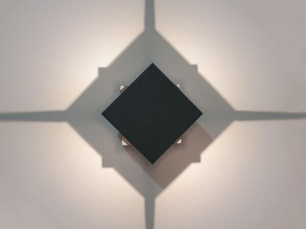 1606 TECHNO LED графит / Светильник садово-парковый со светодиодами TELLUS