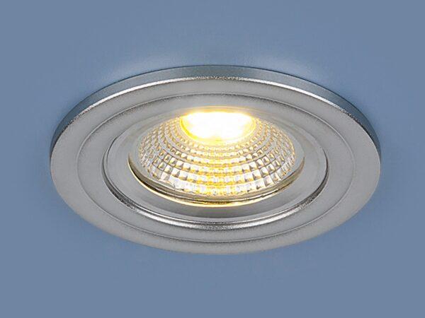 9902 LED / Светильник встраиваемый 3W COB SL серебро