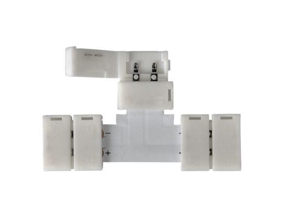 LED 2T / Соединитель электрический коннектор для 5050 одноцв светодиодной ленты T(10pkt)