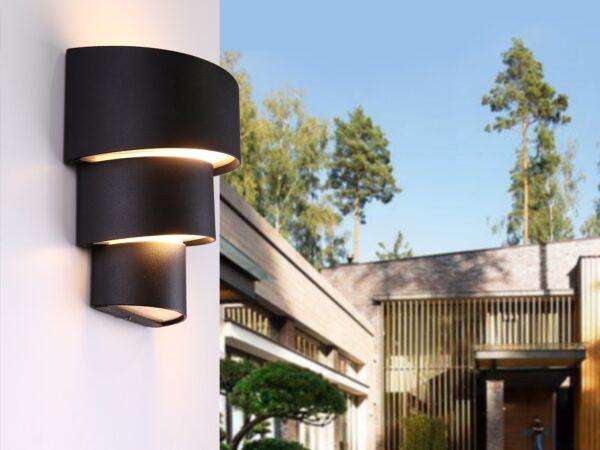 1535 TECHNO LED / Светильник садово-парковый со светодиодами HELIX черный