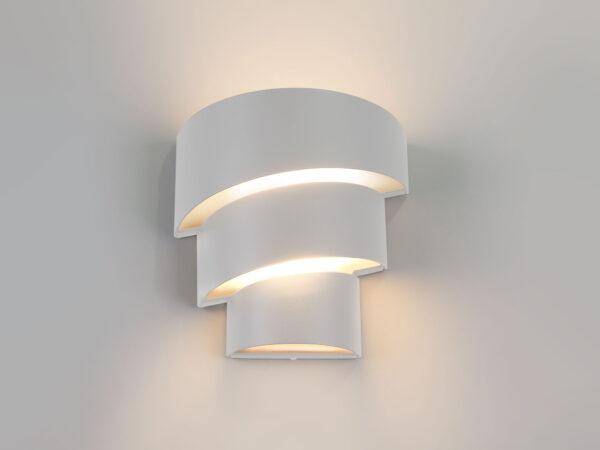 1535 TECHNO LED / Светильник садово-парковый со светодиодами HELIX белый