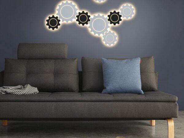 MRL LED 1095 / Светильник настенный светодиодный Gear M LED белый
