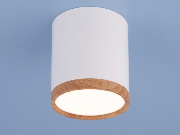 DLR024 6W 4200K / Светильник светодиодный стационарный белый матовый/светлый дуб