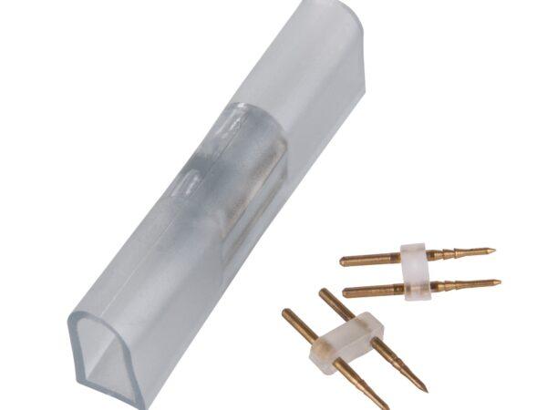PSL-02 / Соединитель электрический Переходник для неона LS001 220V 5050 RGB односторонний (10pkt)