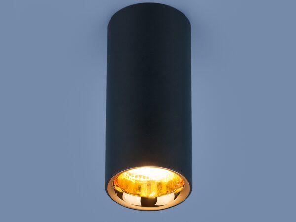 DLR030 12W 4200K / Светильник светодиодный стационарный черный матовый/золото
