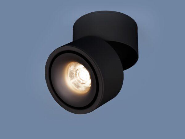 DLR031 15W 4200K / Светильник светодиодный стационарный 3100 черный матовый