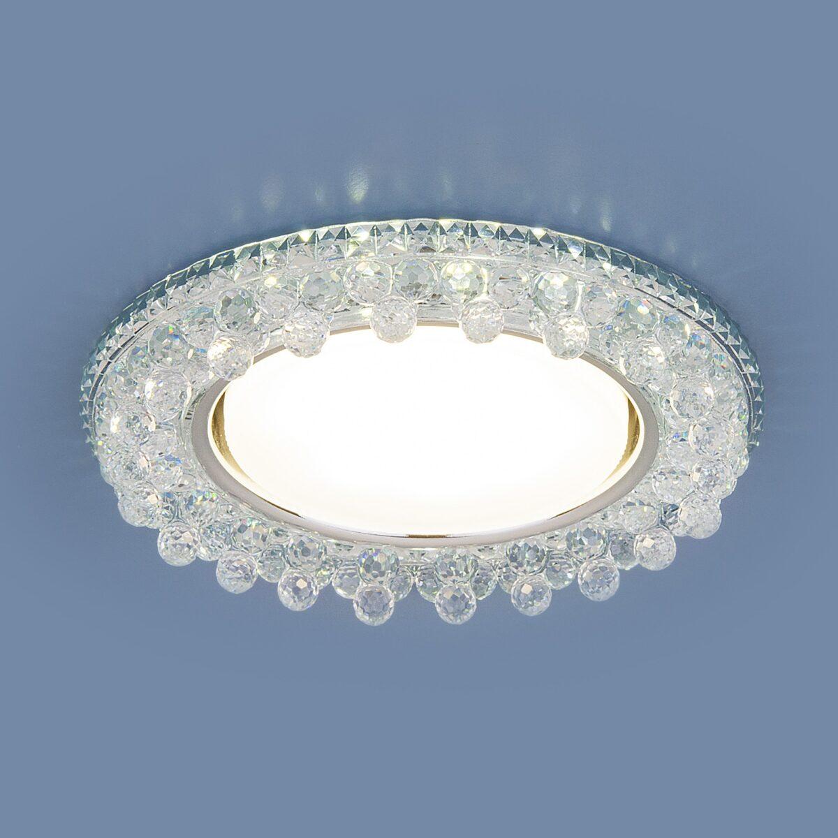 3025 GX53 / Светильник встраиваемый CL прозрачный