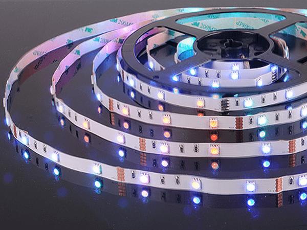 Лента светодиодная 30 LED/м., 7,2W, IP20, мультиколор, (5050, 12V, 30 LED/м, 7,2W, IP20)