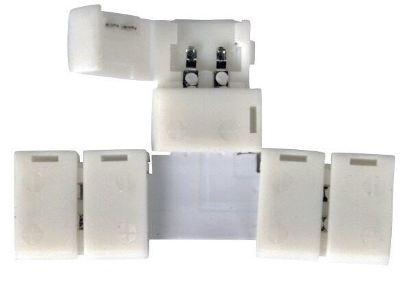 LED 1T / Соединитель электрический коннектор для 3528, 2835 одноцв светодиодной ленты T(10pkt)