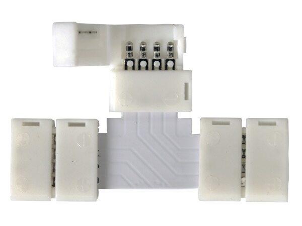 LED 3T / Соединитель электрический коннектор для RGB ленты T (5pkt)