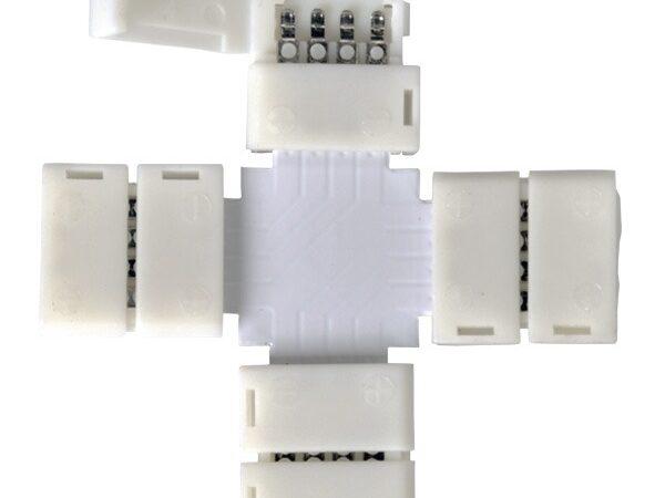LED 3X / Соединитель электрический коннектор для RGB ленты X (5pkt)