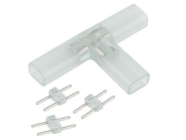 Переходник для ленты 220V 3528 / Соединитель электрический Переходник для ленты Т образный 220V 3528, 2835 (10pkt)