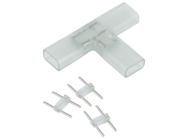 Переходник для ленты 220V 5050 / Соединитель электрический Переходник для ленты Т образный 220V 5050 (10pkt)