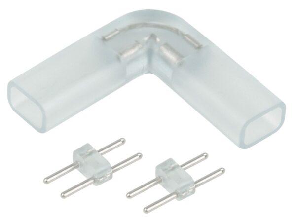 Переходник для ленты 220V 3528 / Соединитель электрический Переходник для ленты угловой 220V 3528, 2835 (10pkt)