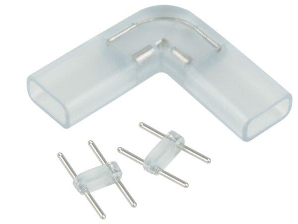 Переходник для ленты 220V 5050 / Соединитель электрический Переходник для ленты угловой 220V 5050 (10pkt)
