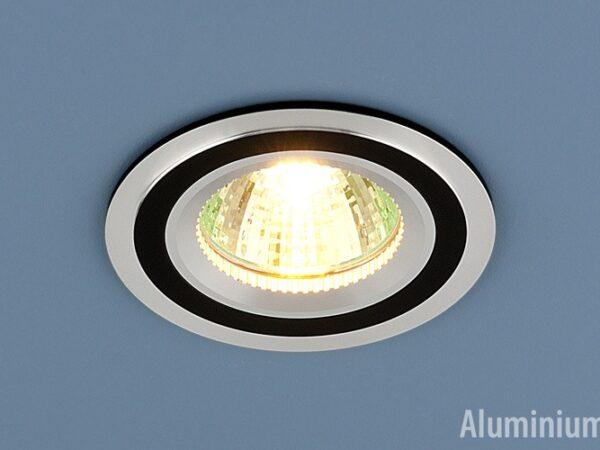 5305 MR16 CH/BK / Светильник встраиваемый хром/черный