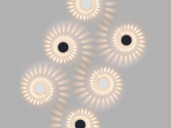 1585 TECHNO LED / Светильник садово-парковый со светодиодами ARKADA белый