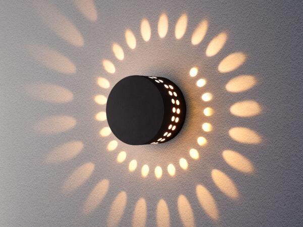 1585 TECHNO LED / Светильник садово-парковый со светодиодами ARKADA черный