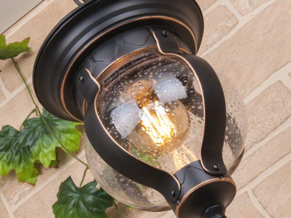 GL 1025H / Светильник садово-парковый Barrel H черное золото